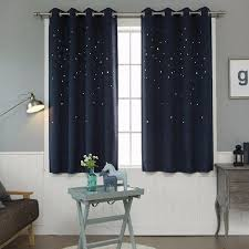 modern window curtain living room 3d hollow star pattern window