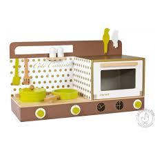 cuisine bois enfant janod cuisine en bois cookinette chic avec accessoires janod la poule à pois