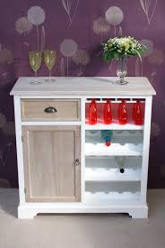 wonderful shabby chic cotswold sideboard with wine rack dining
