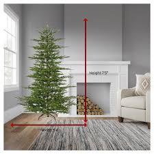 target white christmas tree lights 7 5ft pre lit artificial christmas tree full mesa pine warm white