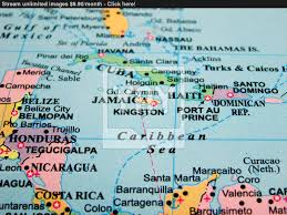 The Caribbean Map by Map Of Caribbean Sea White