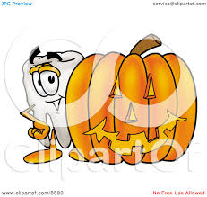 halloween pumpkin cartoons clipart picture of a tooth mascot cartoon character with a carved