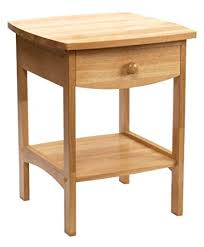 Nightstand With Shelf Winsome Wood End Table Stand With Drawer And