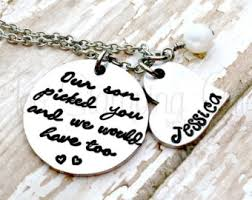 Wedding Gift Necklace Wedding Gifts Personalized Blended Family Blended Family