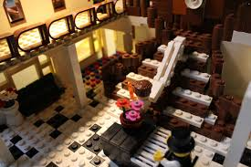Titanic First Class Dining Room Lego Titanic D Deck Sinking Youtube
