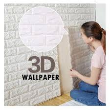 wallpaper design batu bata 3d wallpaper brick foam diy home decor self adhesive dinding bata batu