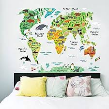 Amazoncom HomeEvolution Large Kids Educational AnimalFamous - Kids rooms decals