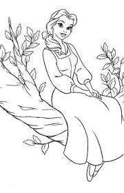 princess belle coloring pages coloring pages