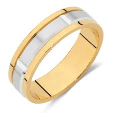 mens wedding bands gold men s wedding band in 10kt yellow white gold