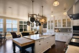 kitchen island with hanging pot rack enchanting kitchen pot rack pot rack kitchen island kitchen