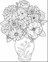 surprising coloring pages flowers roses with printable flower