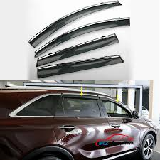 Exterior Door Rain Deflector by Car Parts Vent Wind Deflector Molding Sun Rain Guards Door Windows