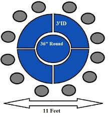 10 person round table how to make a round banquet table for more than 10 people