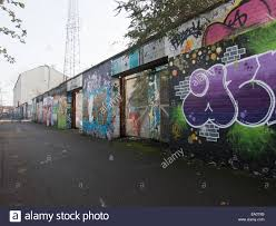 the old gates and wall that surrounds fratton park football stock photo the old gates and wall that surrounds fratton park football stadium portsmouth england covered with street art graffiti