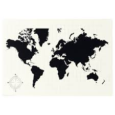 Large World Map Poster by Ready To Hang Frames U0026 Pictures Ikea