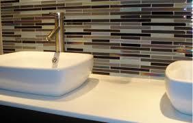 Backsplash Bathroom Sink Ideas  Laptoptabletsus - Bathroom sink backsplash