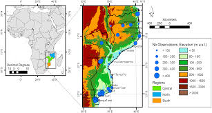 Africa Topographic Map by 100 Mozambique Map Africa Maps Global Public Health Policy