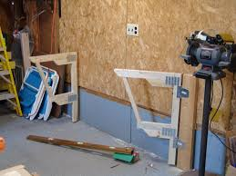 how to make shelves in a garage remarkable home design make a cheap fold down workbench 4 steps with pictures
