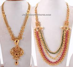 long chain necklace designs images Gold long chain designs in 50 grams necklaces pendants gold long jpg