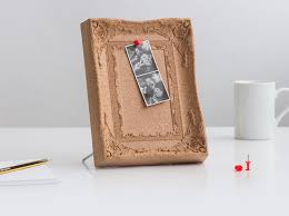 Pin Board Desktop Cork Pinboard Ornate Picture Frame Made From Cork
