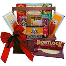 Gift Baskets Food Amazon Com Meat And Cheese Lovers Gourmet Food Gift Basket With