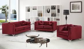 Burgundy Living Room Set 612 Isabelle Living Room Set In Burgundy Velvet By Meridian
