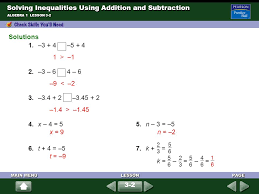 solving inequalities using addition and subtraction ppt download