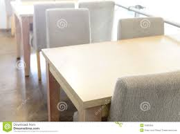 Coffee Shop Floor Plans Free Wooden Table And Chair In Coffee Shop Royalty Free Stock Photo