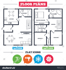 Architecture Plan Architecture Plan Furniture House Floor Plan Stock Vector