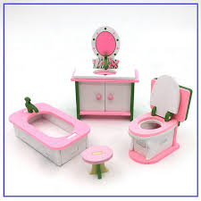 Dolls House Bathroom Furniture Wooden Miniature Dolls House Bathroom Furniture
