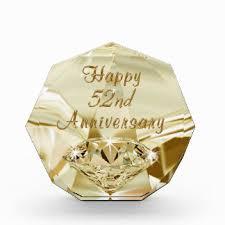 52nd wedding band happy diamond wedding anniversary gifts on zazzle