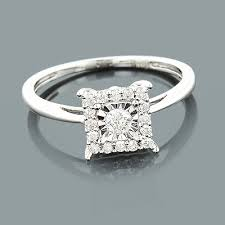 cheapest engagement rings cheap 5 ct square real engagement ring 10k gold new ebay