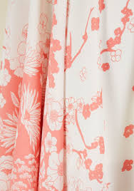 Modcloth Shower Curtain Symphonically Sweet Floral Midi Dress Modcloth