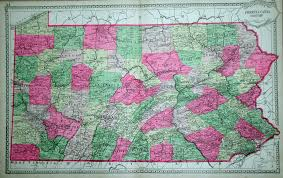 Paper Towns On Maps 1880 U0027s Pennsylvania Maps