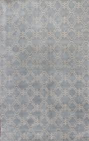 rugsville trellis wool 12161 rug light blue ivory 8x10 rugsville com