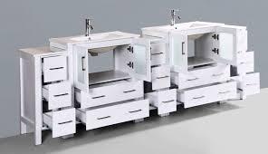 contemporary 96 inch double bathroom vanity set with mirror