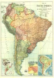 Maps Of South America National Geographic South America Map 1921 Maps Com