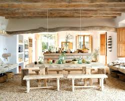 dining decoration rustic dining room design with ceiling beams and