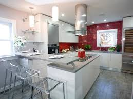 chrome kitchen island white cabinets gray countertops brown varnished wooden kitchen
