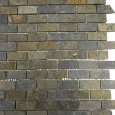 multi color slate mini brick 1x2 mosaic tiles