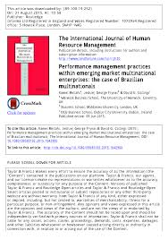 Universities As Multinational Enterprises The Multinational Performance Management Practices Within Pdf Available