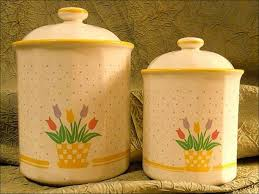 100 pottery kitchen canisters poppies kitchen canister set