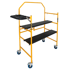 Fold Up Step Ladder by Shop Metaltech Steel Mini Folding Scaffold Stepladder At Lowes Com