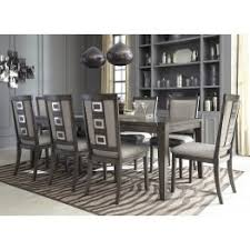 dining room set chadoni gray rectangular extendable dining room set from