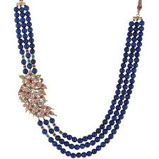 blue beads necklace images Buy bead designs blue beads necklace online get 15 off jpg