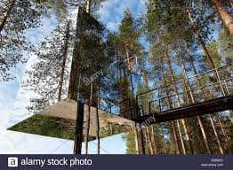 sweden lapland norrbotten county harads treehotel cube hut