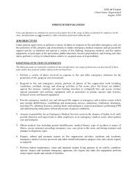 Best Resume Descriptions by Emt Resume Examples Free Resume Example And Writing Download