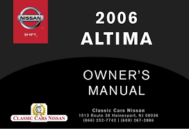 2006 altima owner u0027s manual