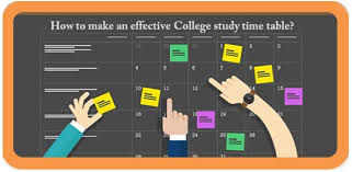 study table for college students how to make an effective college study time table
