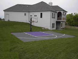 Backyard Basketball Court Backyard Basketball Court Dimensions Half Simple Loversiq